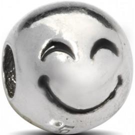 Charm EMOTICONS, in argento 925‰: FELICE - ARGENTO