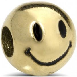 Charm EMOTICONS, in argento 925‰: OTTIMISTA - ORO