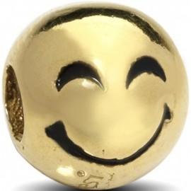 Charm EMOTICONS, in argento 925‰: FELICE - ORO