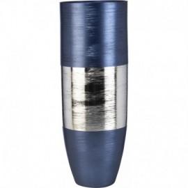 Vaso, argento su vetro, SINFONIA h45cm BLU NOTTE