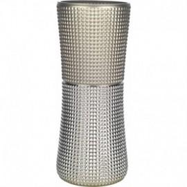 liquidazione: Vaso, h.35cm - mod.QUADRI col.SABBIA - argento su vetro