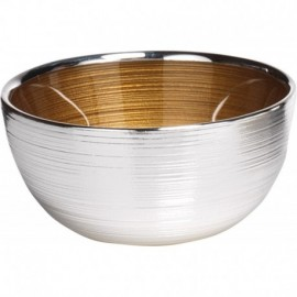 Ciotola, argento su vetro, SINFONIA 13cm - ORO