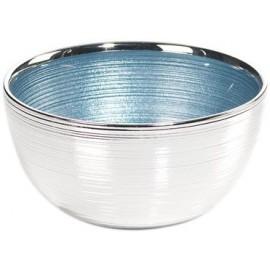 Ciotola, argento su vetro, SINFONIA 13cm - CELESTE