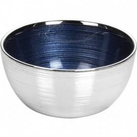 Ciotola, argento su vetro, SINFONIA 13cm - BLU NOTTE