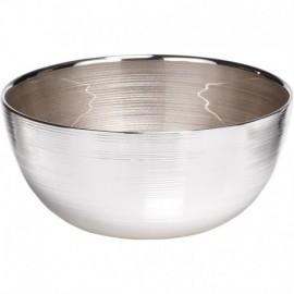 CentroTavola, argento su vetro, SINFONIA 21cm - BIANCO PERLA