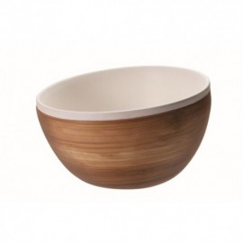Set di ciotole in ceramica BIANCA e bamboo (8.5-10.5-12.5cm) - FAMILY BOWLS
