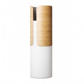 Vaso 32.5cm Dual - Transit (Vetro opalino e Bamboo)