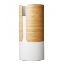 "Vaso 25.8 cm Dual - Transit"" - (Vetro opalino e Bamboo)"