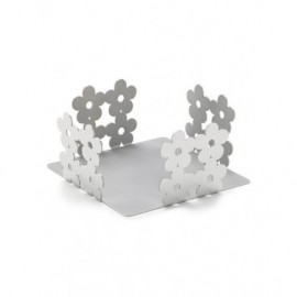 Porta blocknotes fiori, in acciaio - Cresia mod.3001