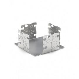 Porta blocknotes puzzle, in acciaio - Cresia mod.3000