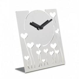 LIQUIDAZIONE! Orologio da tavolo, in acciaio - Cresia mod.8827
