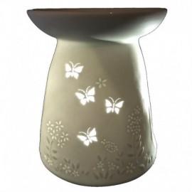Portacandela starlight aromaterapia in bisquit: Farfalline