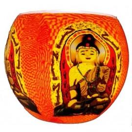 Portacandele in Vetro: Buddha sorridente