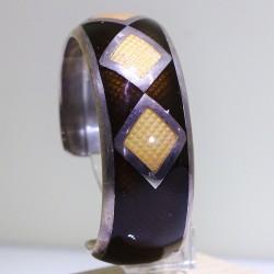 Bracciale argento e smalto bicolore - ITALO GORI