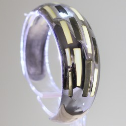 Bracciale argento e smalto mod.barre - ITALO GORI
