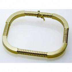 Bracciale Rigido In Oro Rettangolare Elastico (13 gr.) | FNF