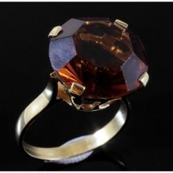 Anello in oro 18Kt con Cubic Zirconia Colore Topazio | AAA