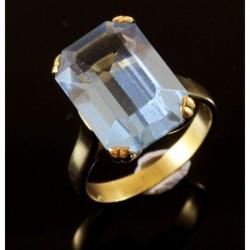 Anello in oro 18Kt con Cubic Zirconia Colore Acquamarina | AAA