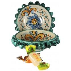 Ciotolina porta-snack verde 15cm