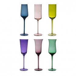 6 calici limoncello (6 colori e 6 forme diverse) DESIGUAL