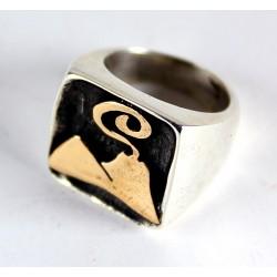 """Anello """"Vesuvio"""" in argento 925% e oro 14%"""