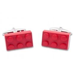 Gemelli Da Polso Mattoncino Lego Rosso