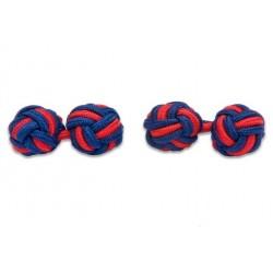 Gemelli Da Polso Nodi Elastici - Blu E Rosso