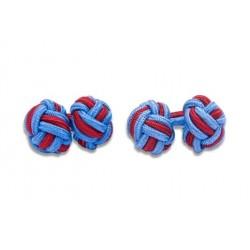 Gemelli Da Polso Nodi Elastici - Azzurro E Rosso