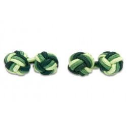 Gemelli Da Polso Nodi Elastici - Verde Scuro, Verde E Verde Pistacchio