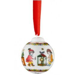 -LIQUIDAZIONE- Palla Natale Mini in porcellana: Minisfera Lanterna 2016
