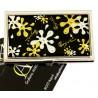 Portabiglietti da visita - metallo cromato e smaltato - Mod. SPLASH silver/gold