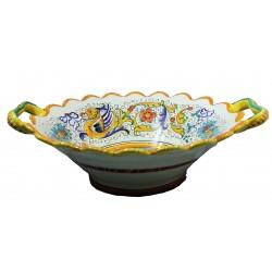 FRUTTIERA cm.30 in Ceramica Deruta: decoro RAFFAELLESCO
