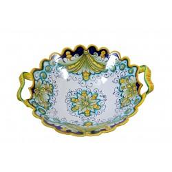 FRUTTIERA cm.35 in Ceramica Deruta: decoro OTTOCENTO