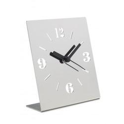 LIQUIDAZIONE! Orologio da tavolo, in acciaio - mod.8801