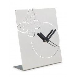 LIQUIDAZIONE! Orologio da tavolo, in acciaio - mod.8823