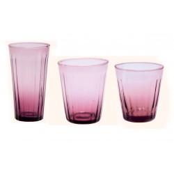 Servizio bicchieri x 6 (acqua - vino - high thumbler) LUCCA GLICINE