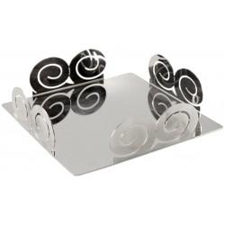 Porta Tovaglioli Spirali in Acciaio Inox cm 20x20