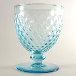 6 bicchieri da vino, h 10.2 cm - ELBA AZZURRO