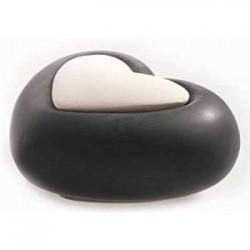 Diffusore in ceramica e gesso Lovely - CUORE NERO