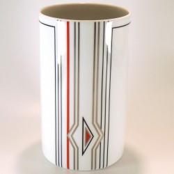Vaso in porcellana a base cilindrica – h. 16cm – mod.Linea