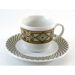 6 tazze da caffè in ceramica - NEW ROMANTIC rosa salmone
