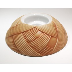 Portacandele cm 12 h4 in porcellana Biscuit - HACIENDA Arancio