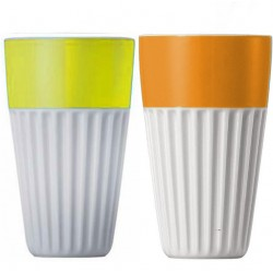 Set 2 tazze atermiche Cup°-Becher 0,35L - Thomas Sunny Day - Yellow-Orange