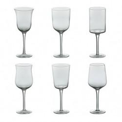 Set 6 calici vino DESIGUAL trasparenti