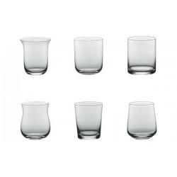 LIQUIDAZIONE: Set 6 calici acqua DESIGUAL trasparenti