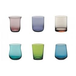 Set 6 calici acqua DESIGUAL colorati