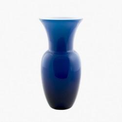 Vaso Salina - 38cm - Blu e (interno) bianco