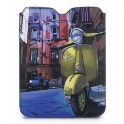 Porta tablet in pelle Vespa gialla