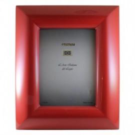 -LIQUIDAZIONE- Cornice in legno laccato rosso 15x20 cm