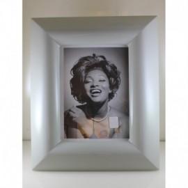 -LIQUIDAZIONE- Cornice in legno laccato grigio perla 15x20cm